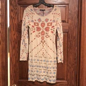 NWT Gypsy aztec printed sweater knit dress Small